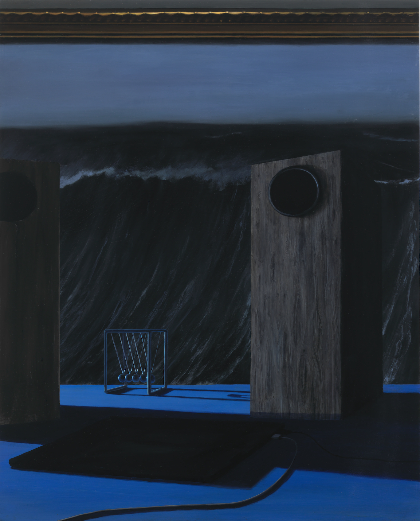 "Alexa, Siri, Landscape  2018  oil on panel  30"" x 25"" (76.2 x 62 cm)"