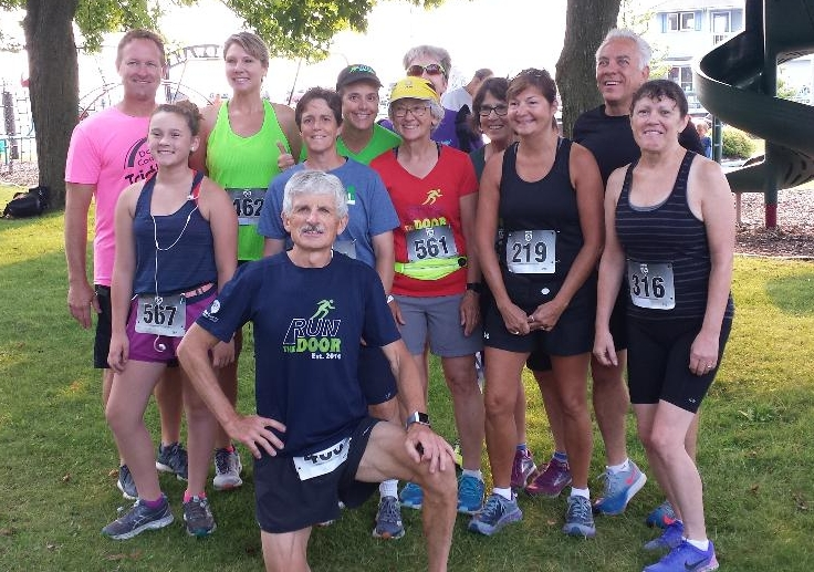 There we were BEFORE the Shanty Days 5K in Algoma . . .