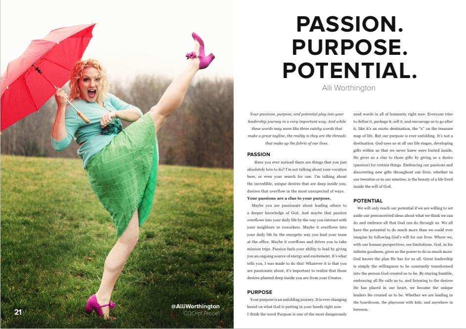 Alli Worthington, Propel Magazine Winter Edition 2015