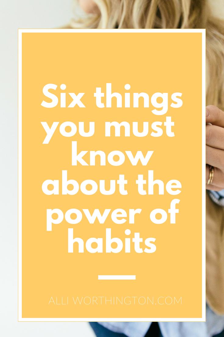 Secrets to success- Power of habits