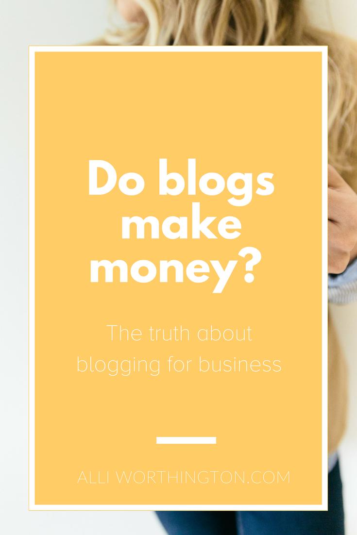 Do blogs make money?
