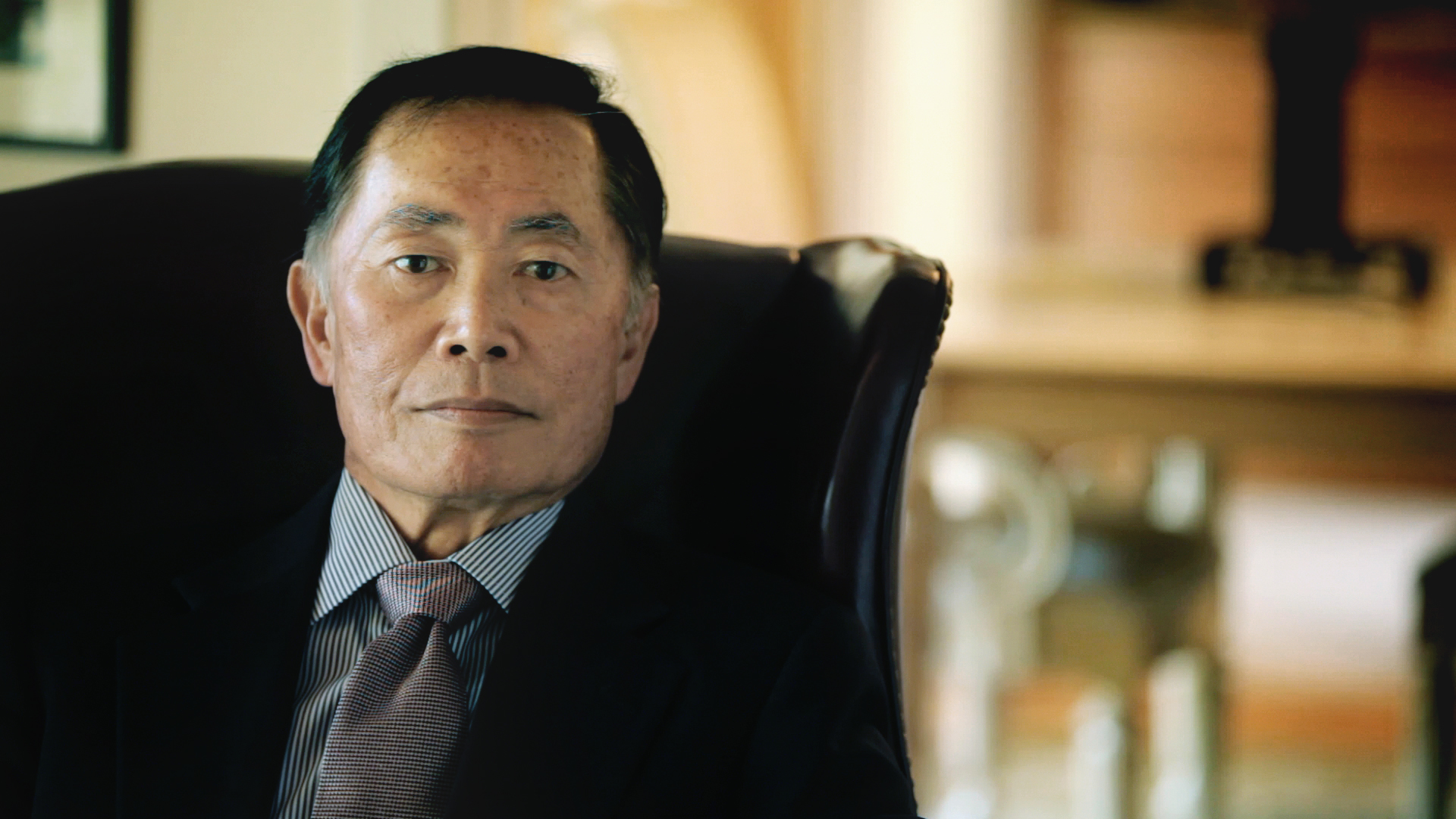 Shooting George Takei in his home as he accepts the LGBT Humanist Pride Award