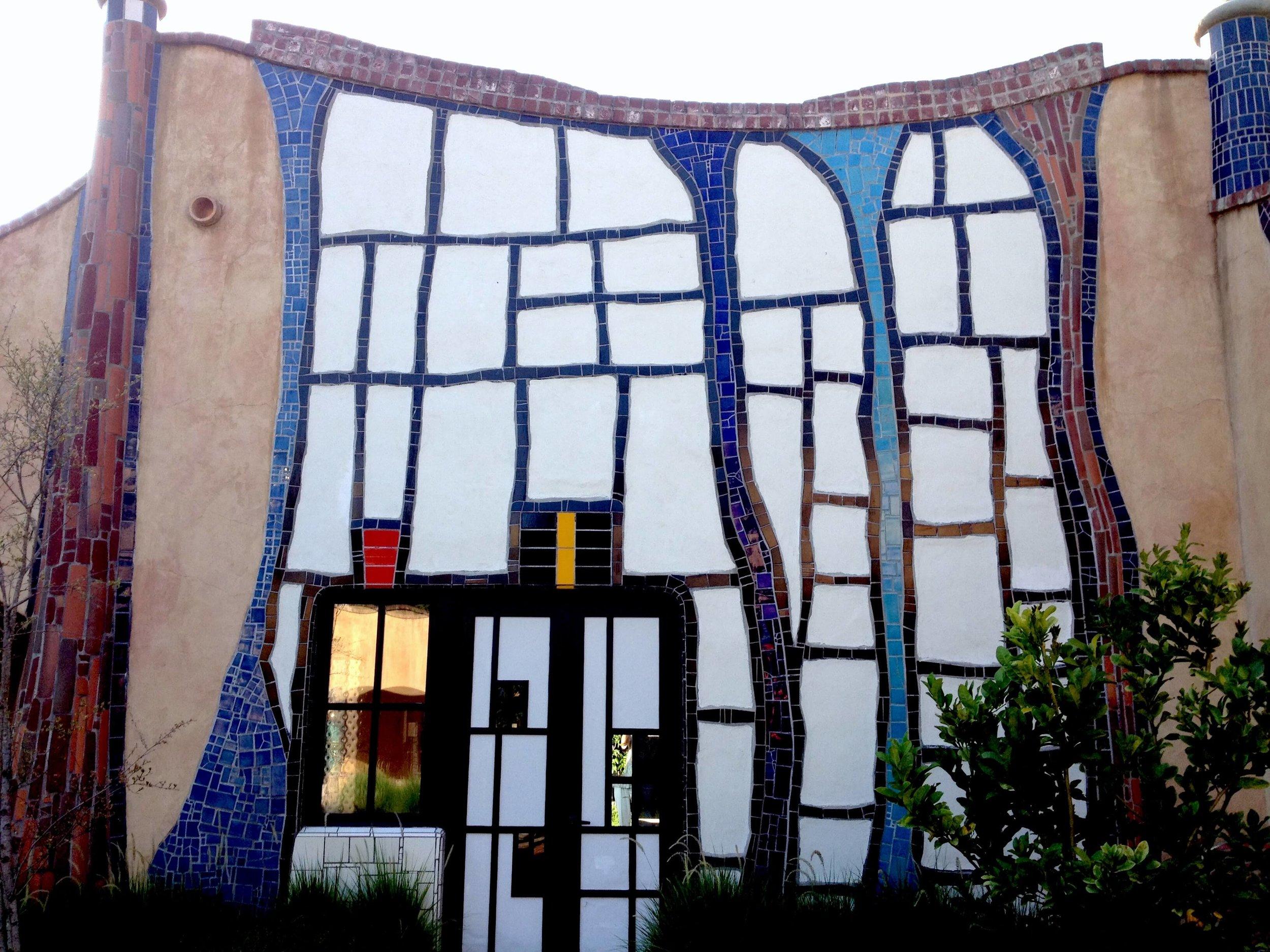 Design work of Hundertwasser at Quixote Winery