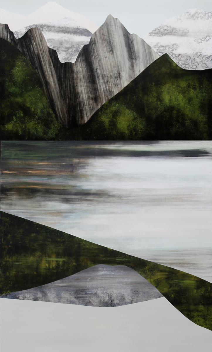 """Lake View, 100x60"""", Acrylic."""