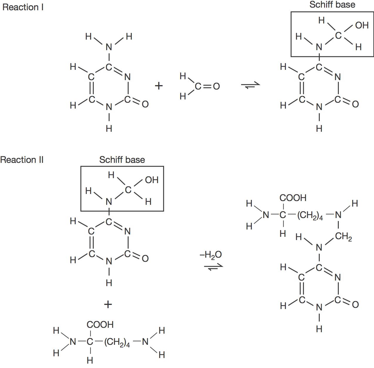 formaldehyde crosslinking