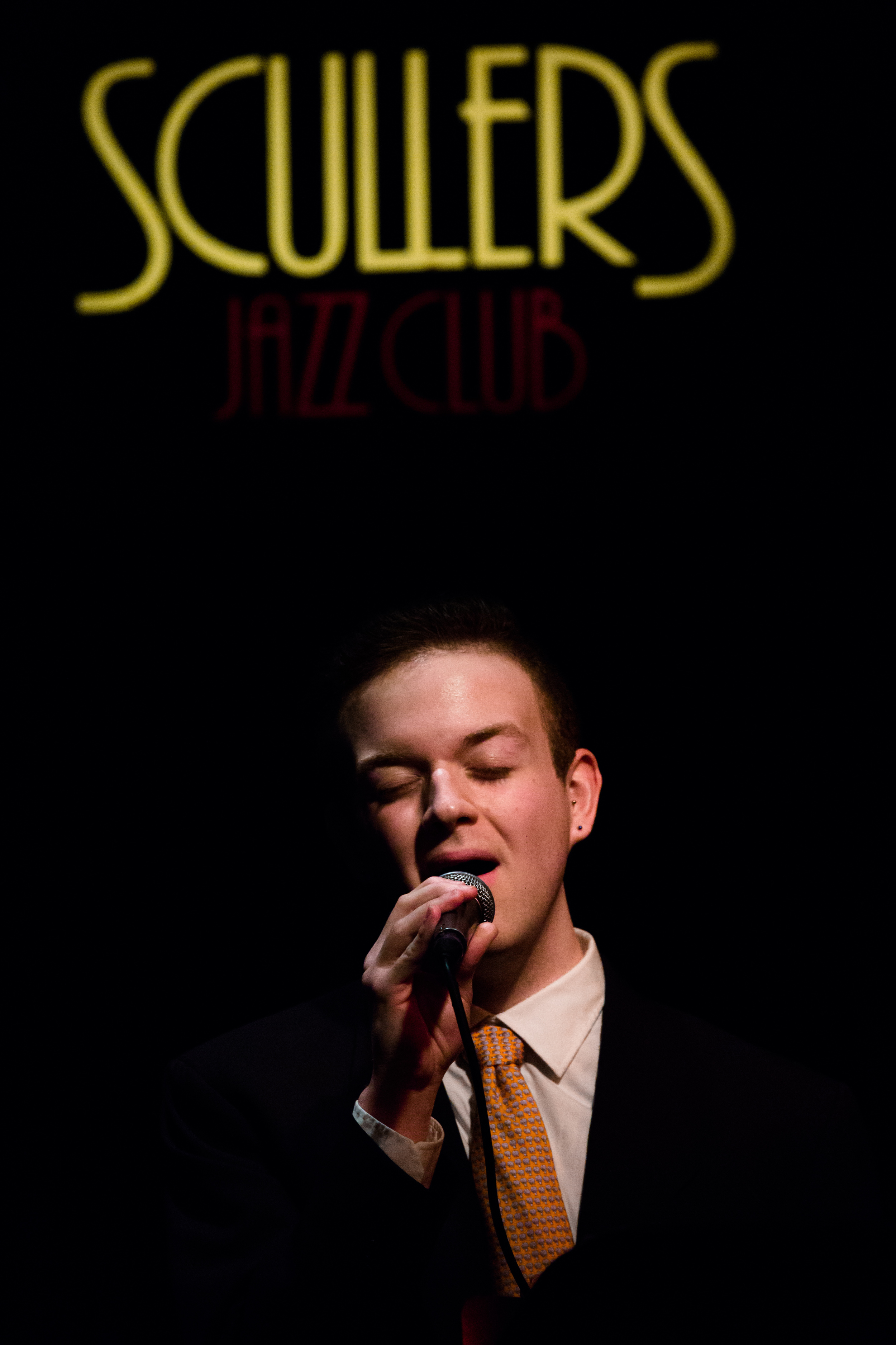 Young jazz artist performs at Scullers, in Boston, Mass.