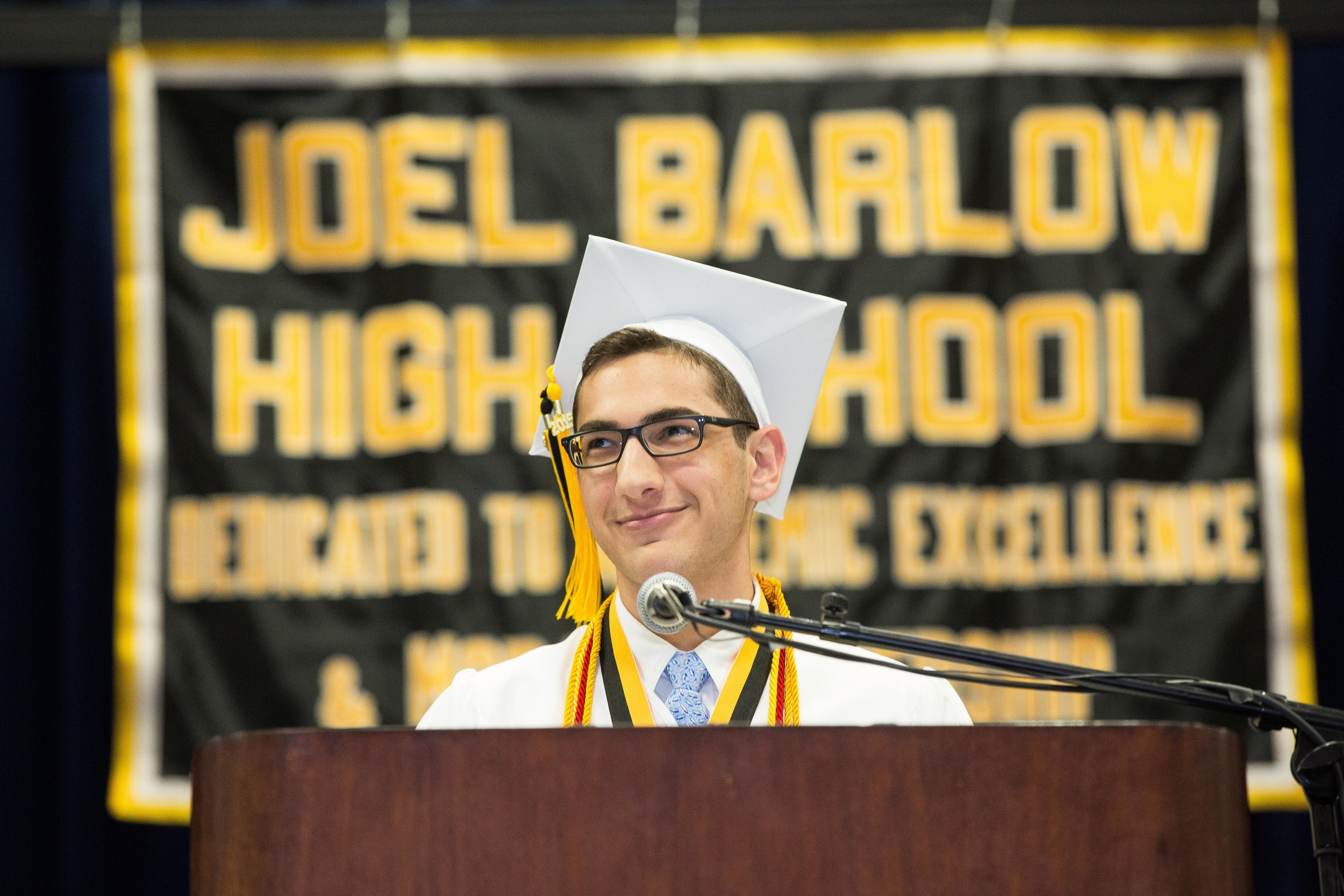 Joel Barlow High School's valedictorian.