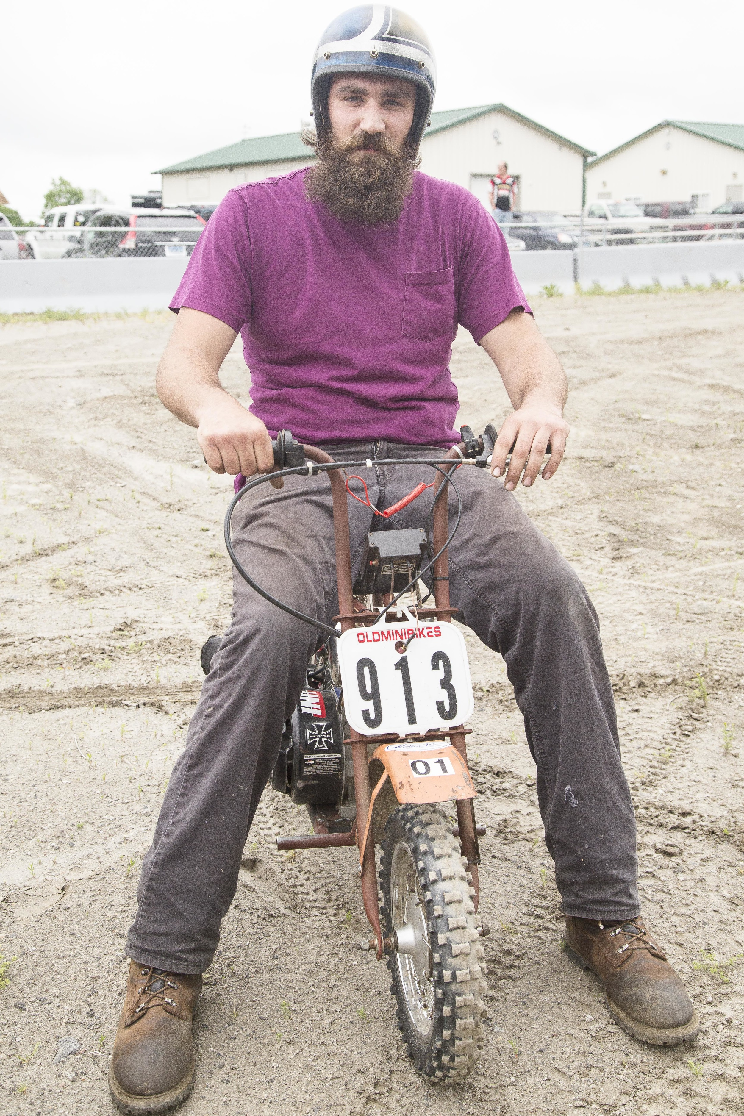Rick Capuano, of East Haven, a mini-dirtbike rider