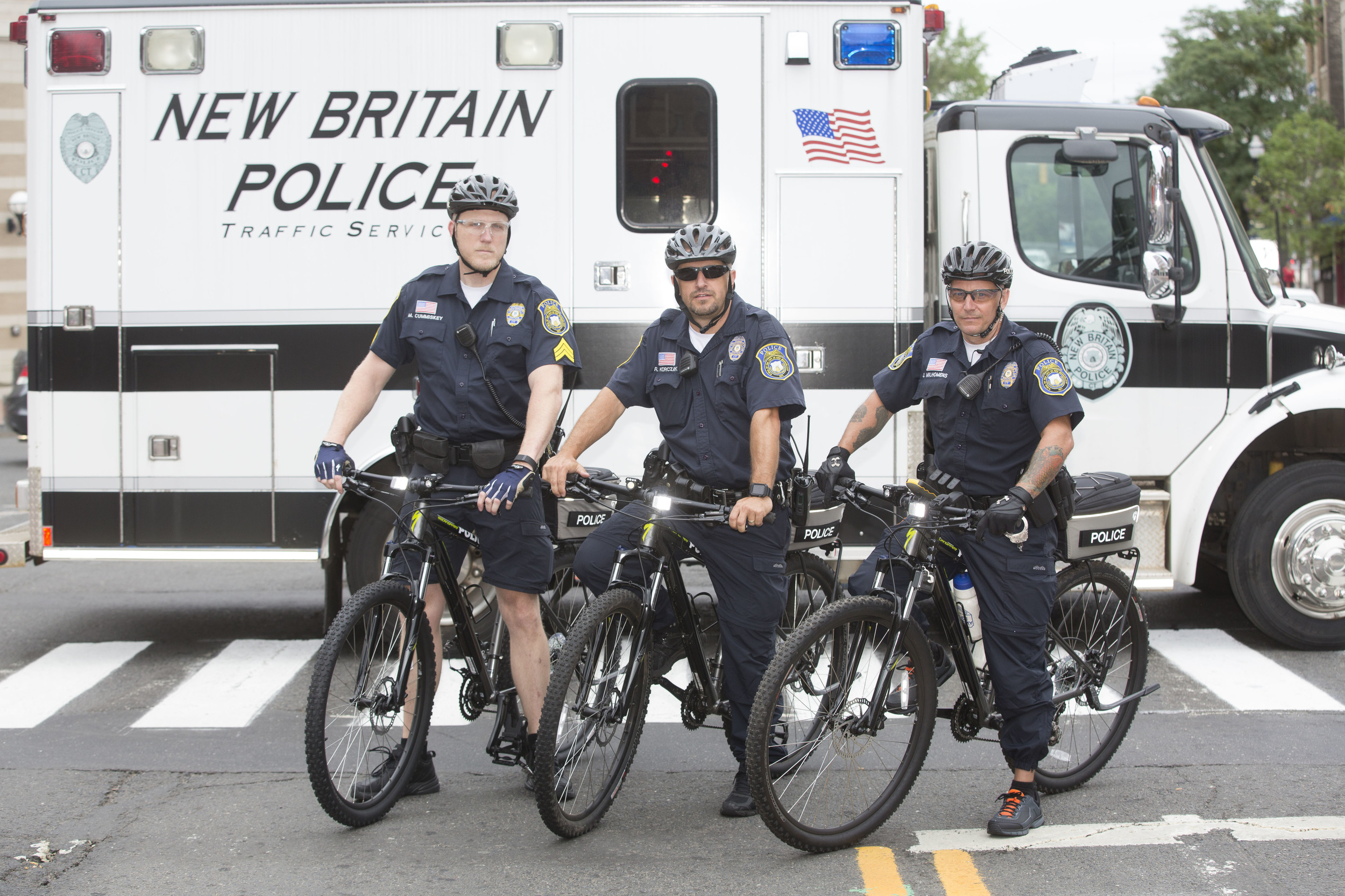 Members of the New Britain Police Department's Bike Squad.