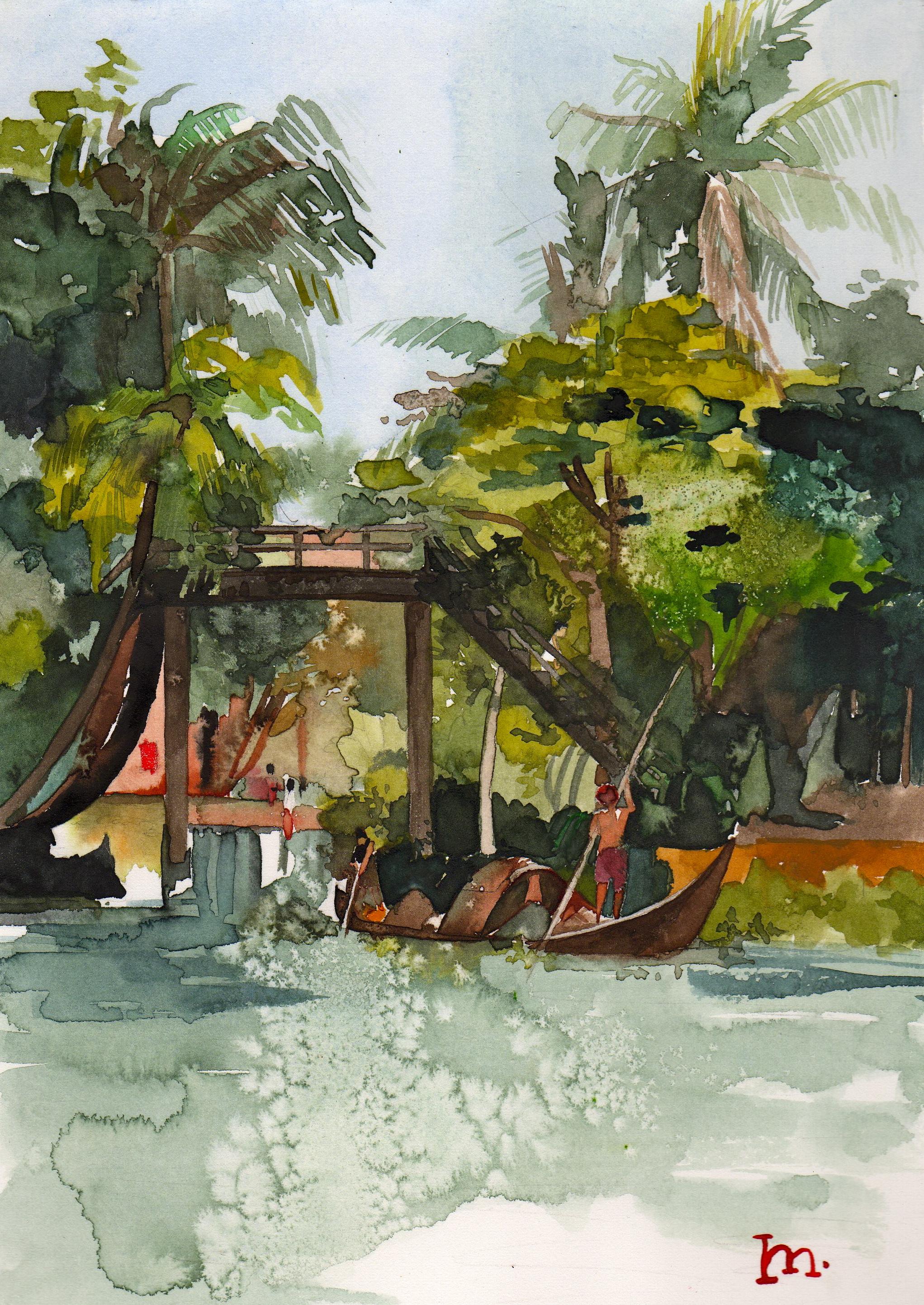 kerala:  lagoon