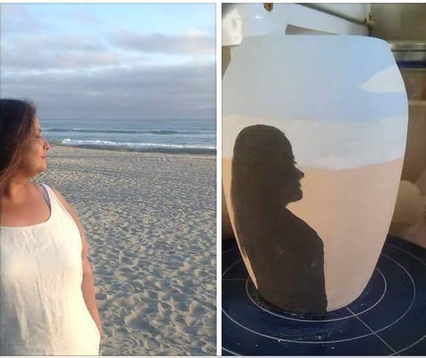Nimi's profile photo alongside Cathy's pot in progress