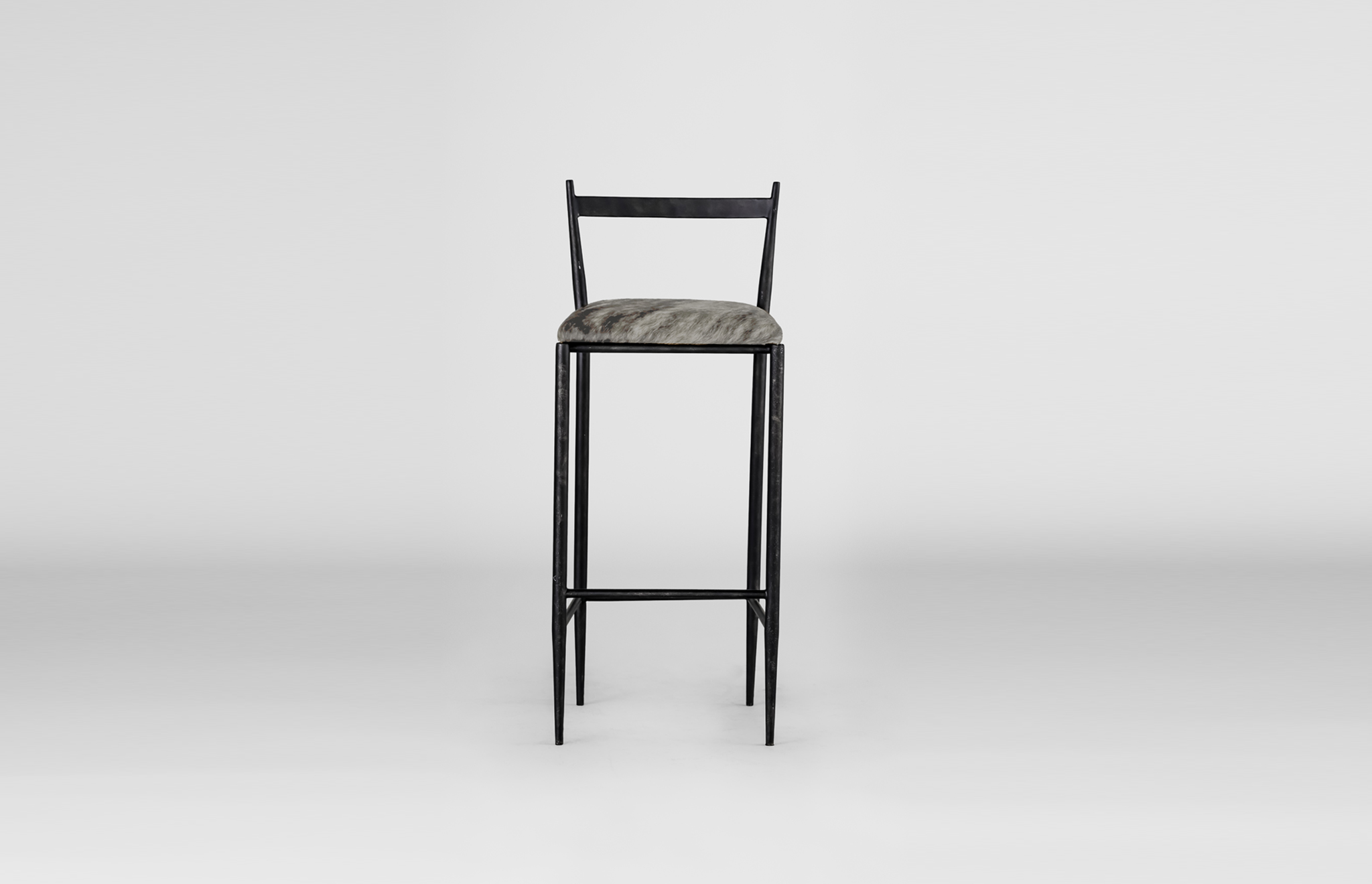 Ward Bar Stool with cowhide seating
