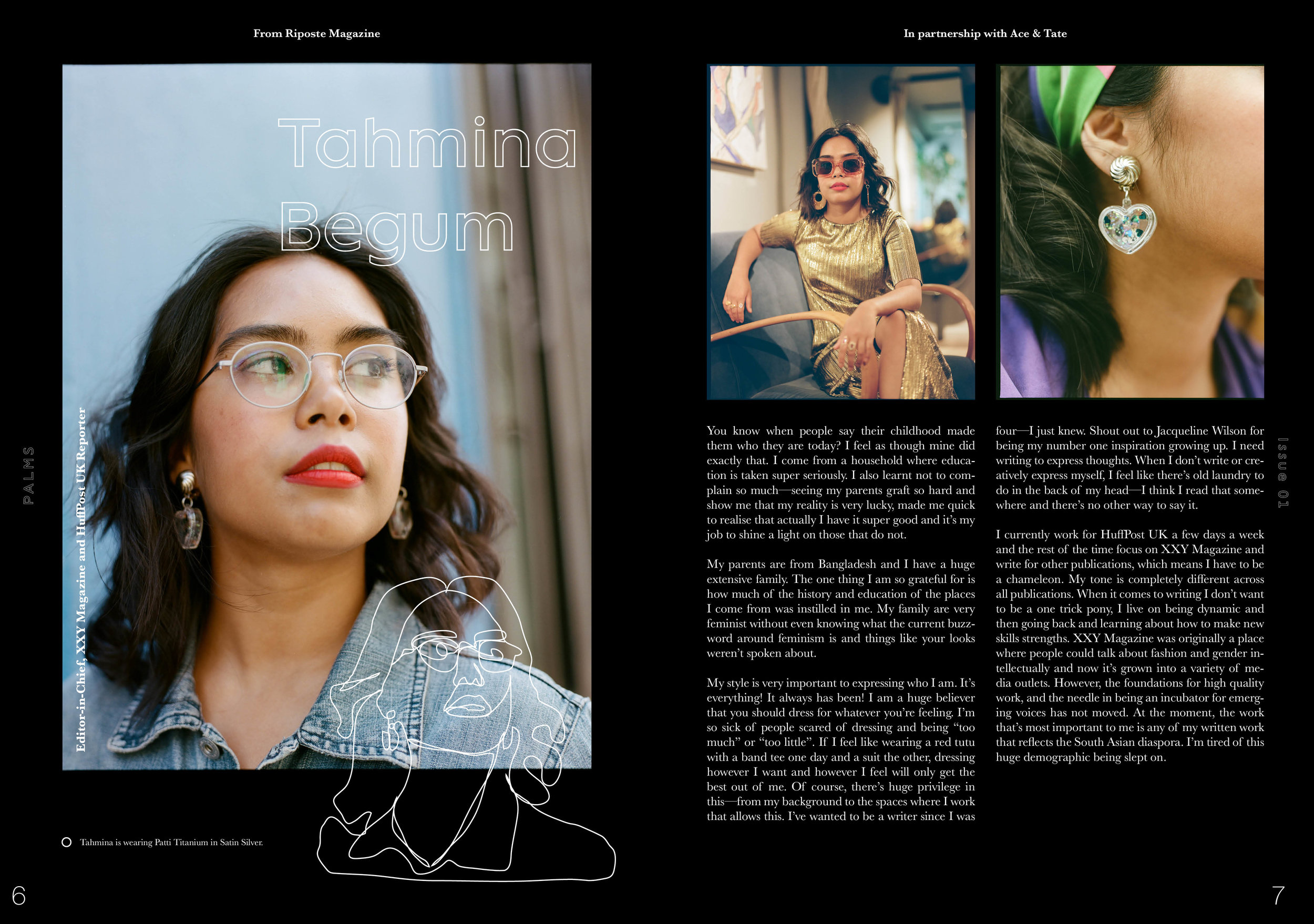 Lay It Out - A showcase of page layouts based on intriguing people, places, and artworks. Content is both original words and photographs mixed with sourced materials from existing publications.