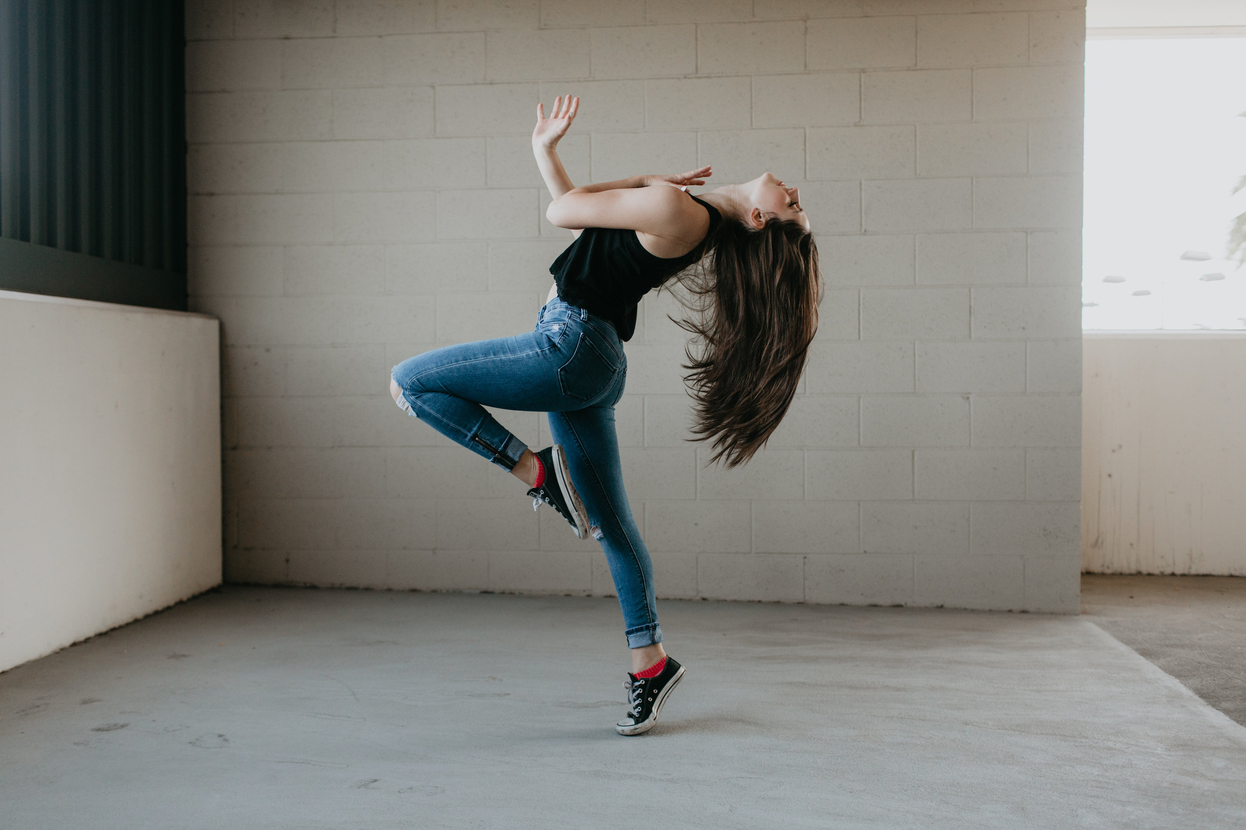 Dancer: Cassandra Lambros  Photo: Emily Duncan