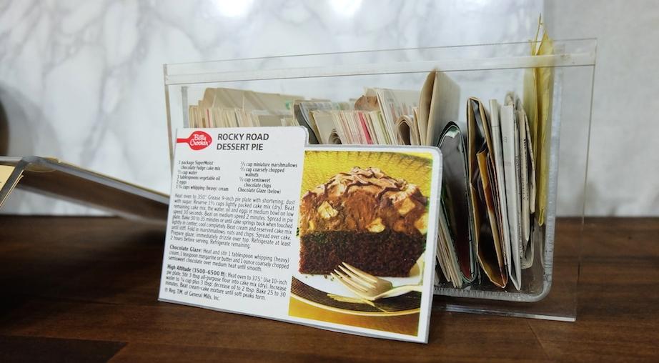 ケーキミックスのボックス裏のレシピを切り取ったもの