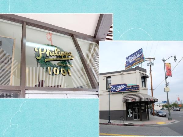 行列覚悟ですが。。やっぱり美味しいの〜! #philippe#sandwiches#losangeles#entrance