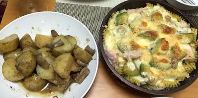 アンチョビポテト&野菜ごろごろのDinner ♡