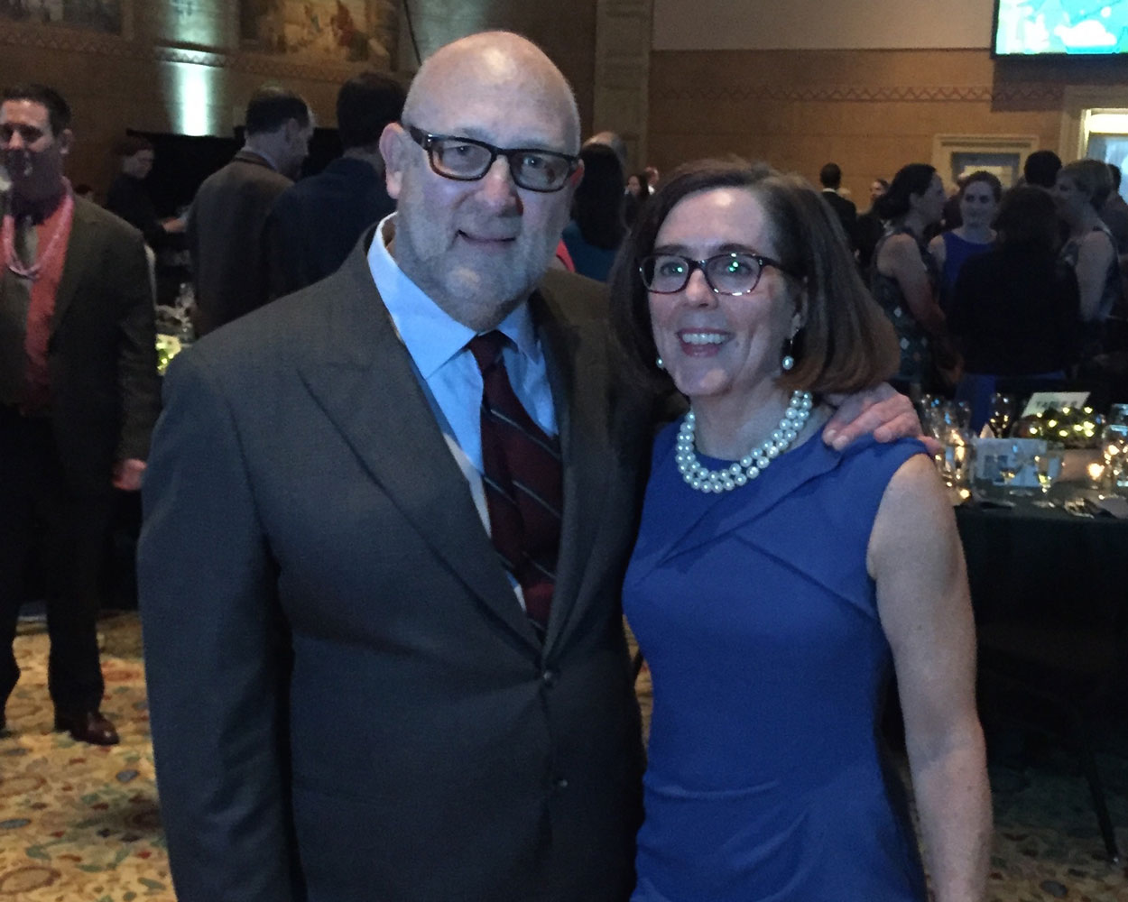 With Governor Kate Brown at Oregon League of Conservation Voters dinner
