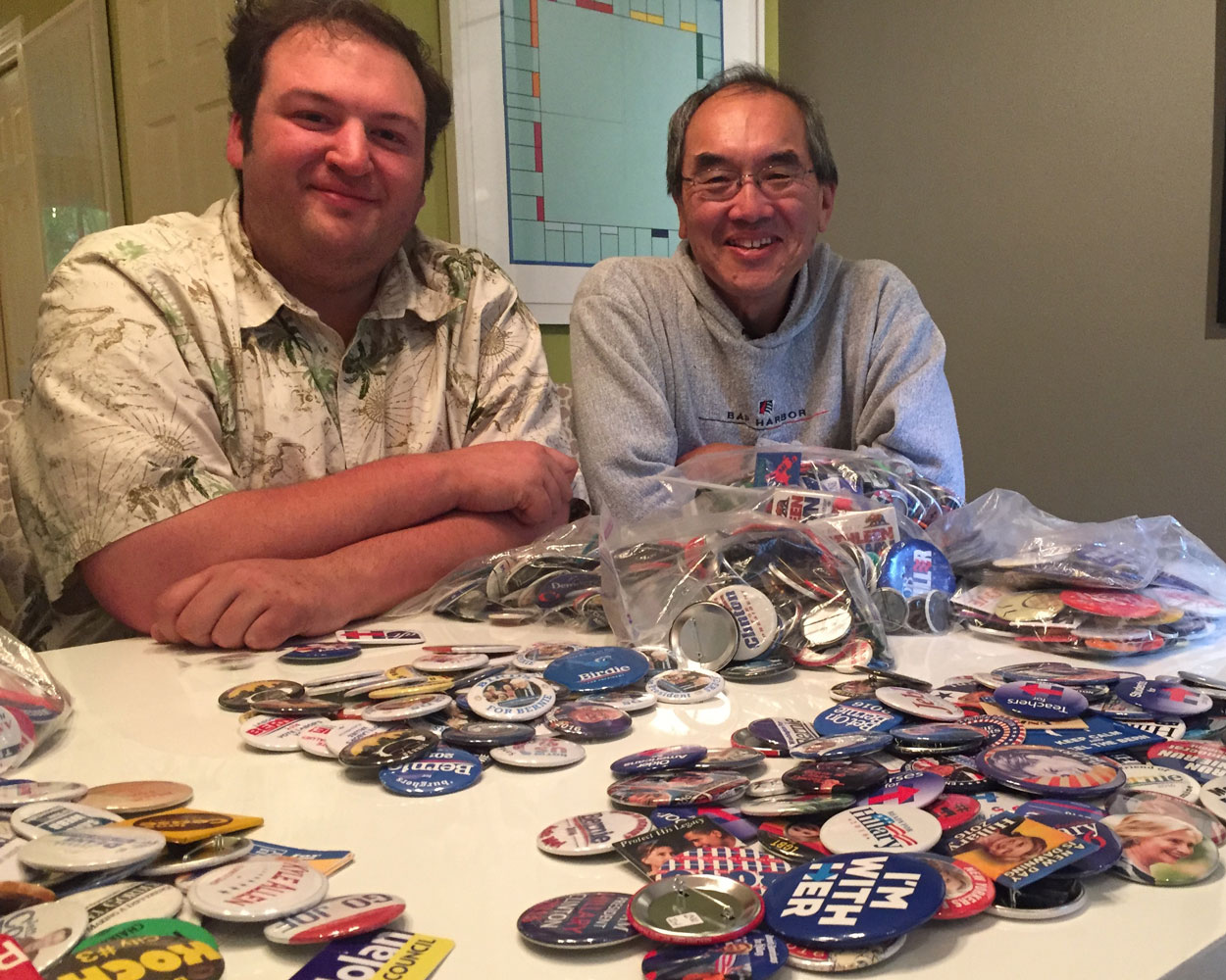 Trading with fellow collectors Carl Fisher and Cary Jung