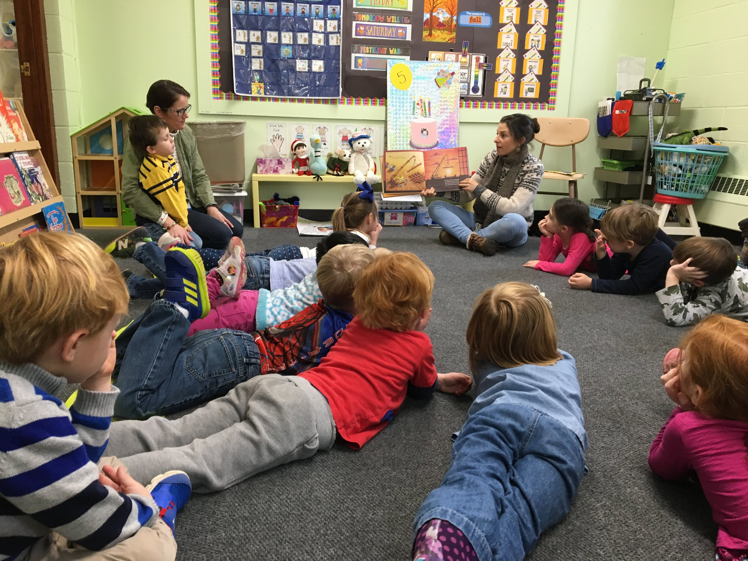 During circle time, children get to listen to stories, sing songs and work on many valuable skills, including mathematical equations, patterning, name recognition and more.