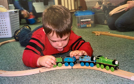 "My favorite PUNS memory is … ""playing with the trains every day."""