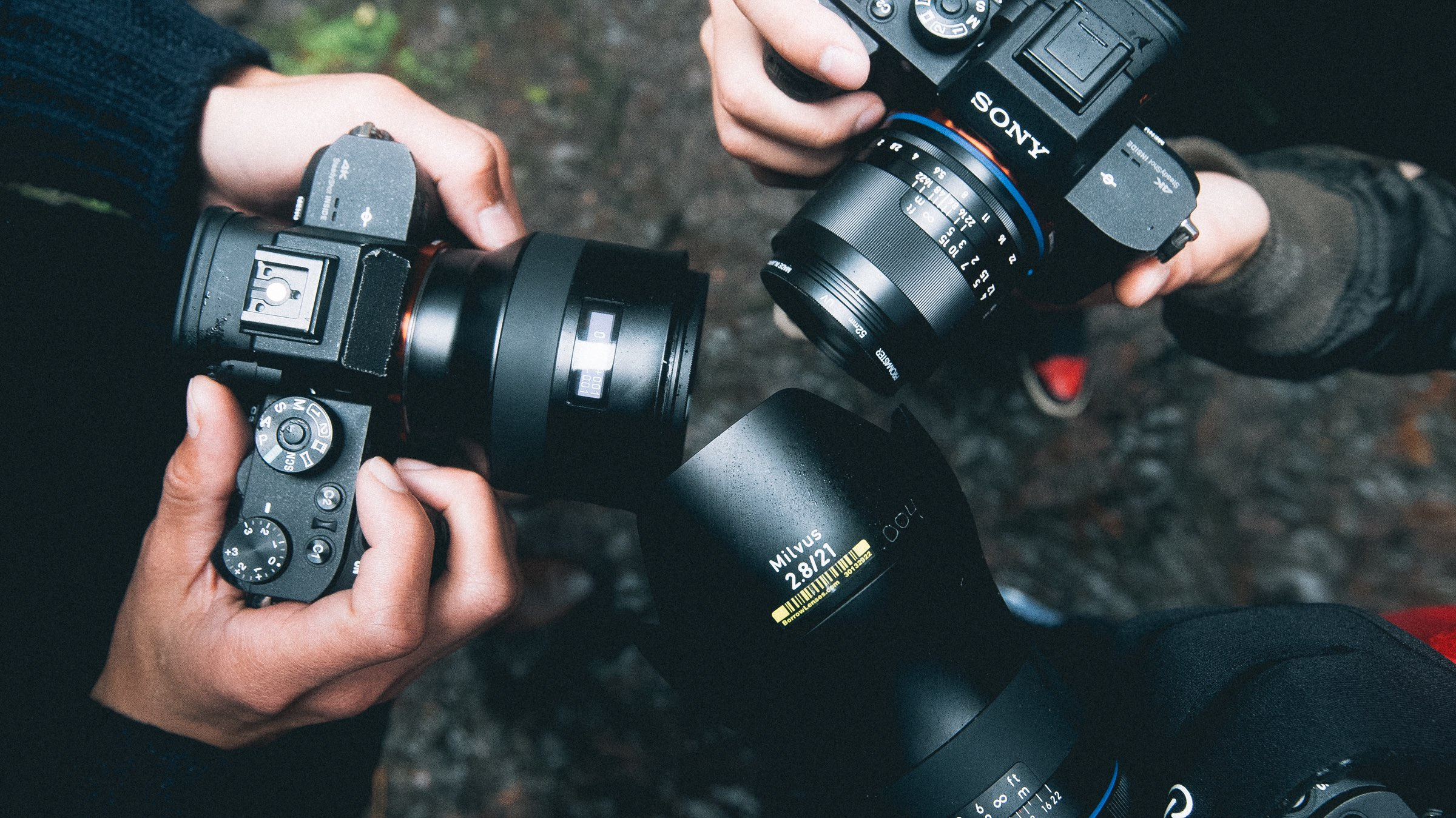 Left: Batis 25mm Middle: Milvus 21mm Right: Loxia 50mm