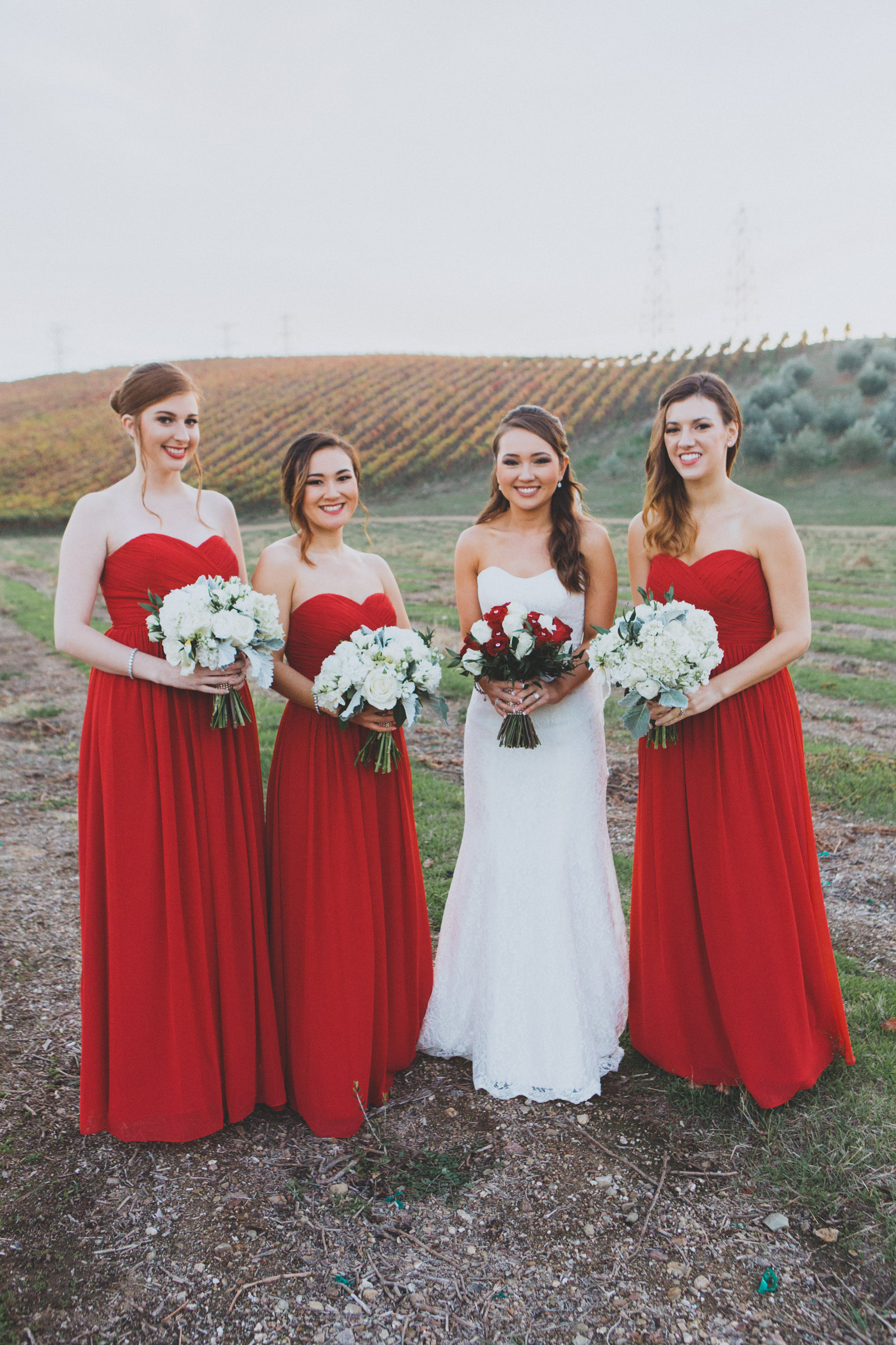 & the beautiful bridesmaids