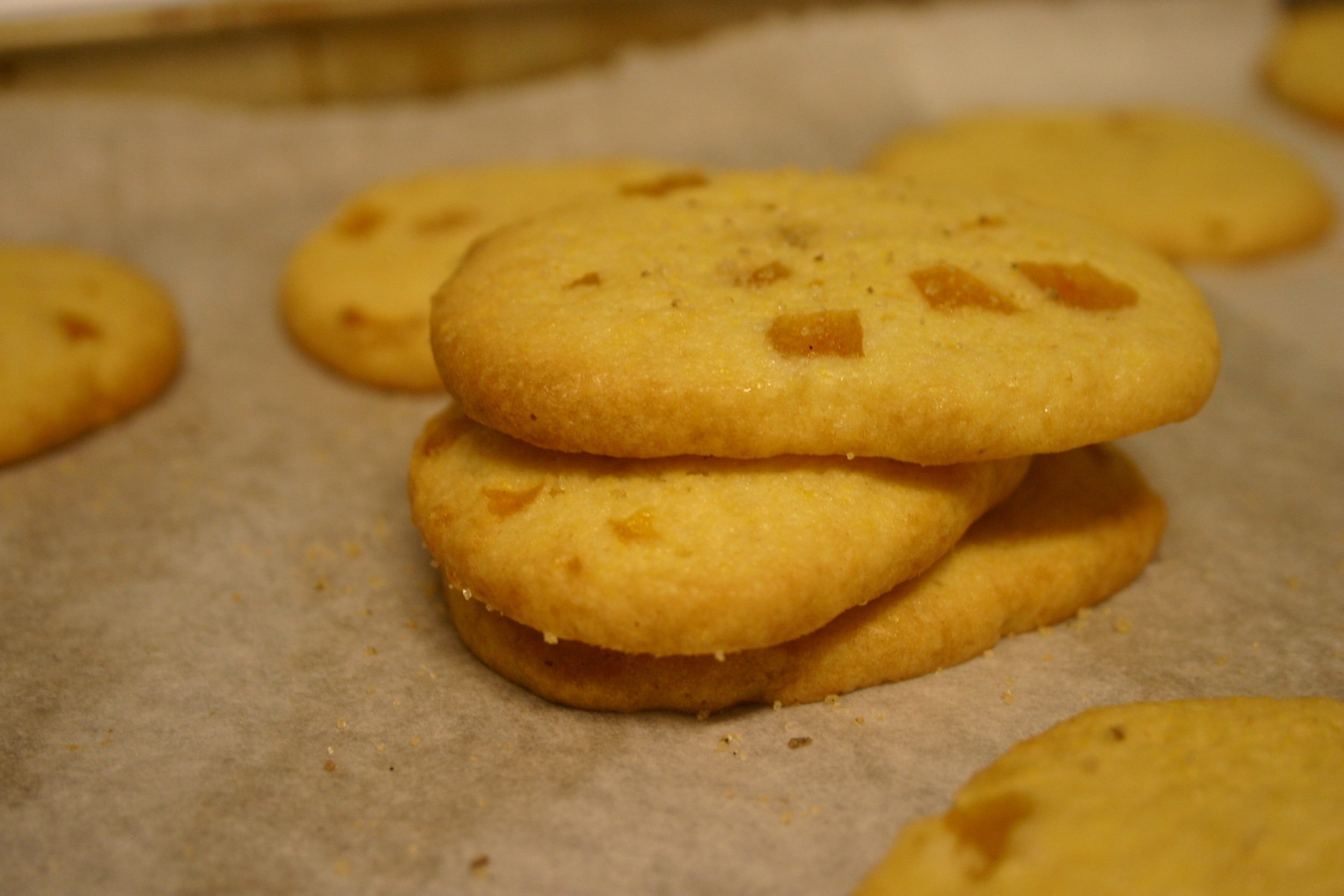 Apricot Cornmeal Cookie Stack