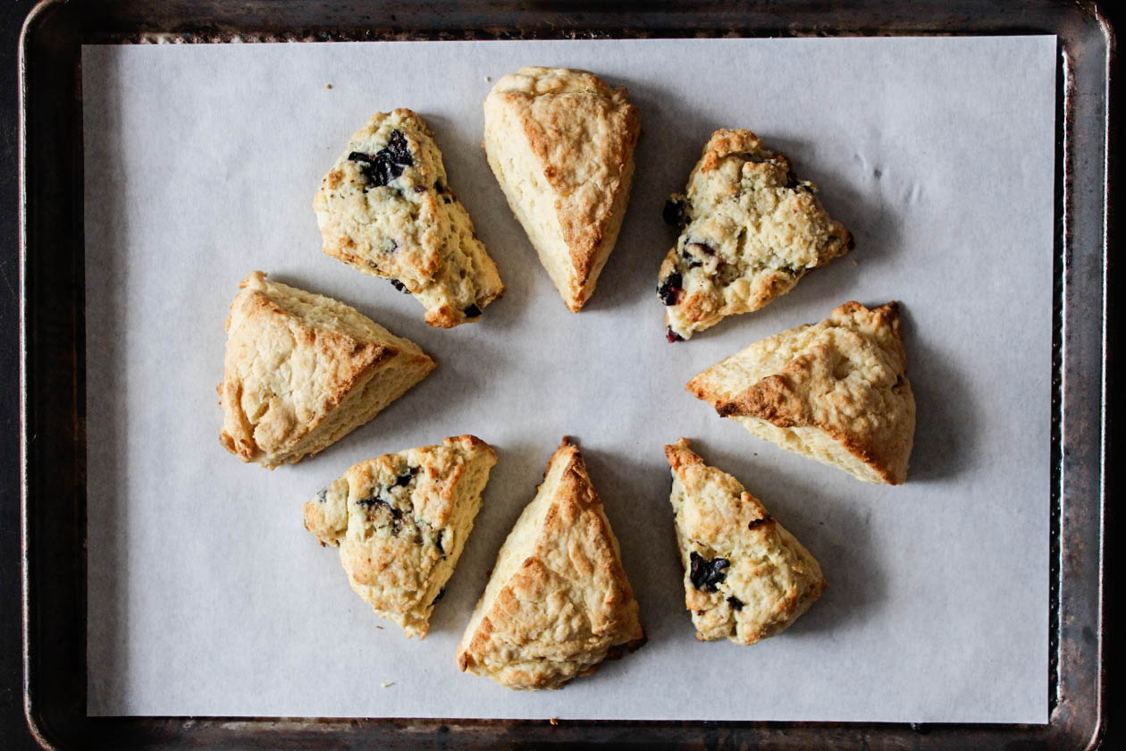 cream and blueberry lemon scones