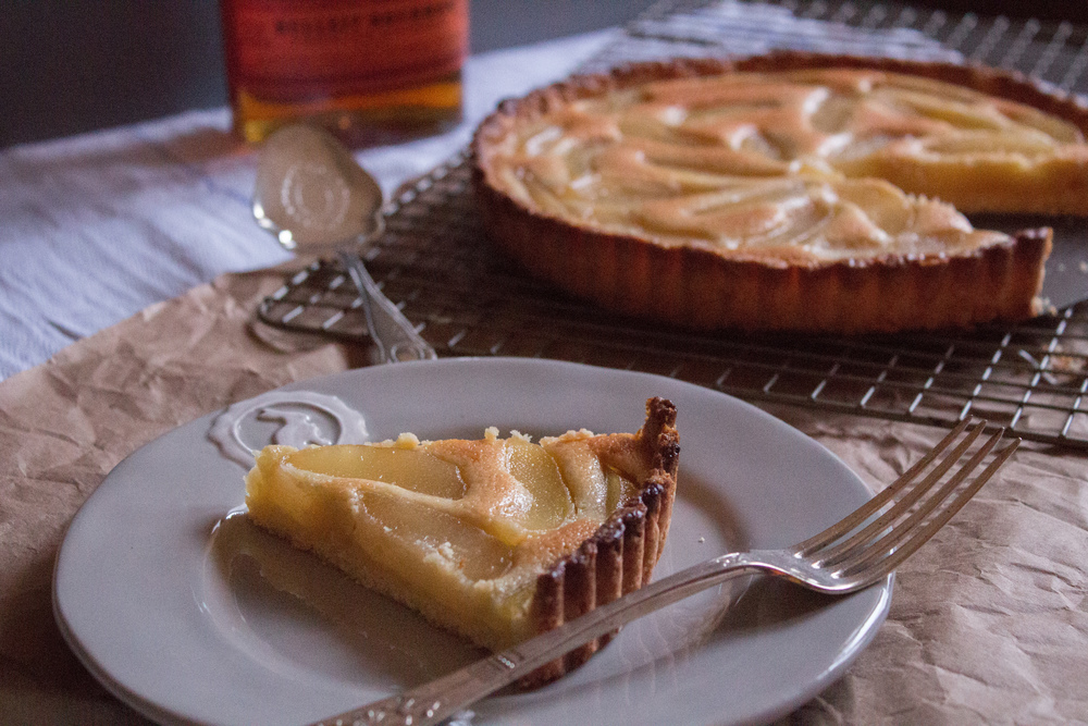 Whiskey Pear Tart