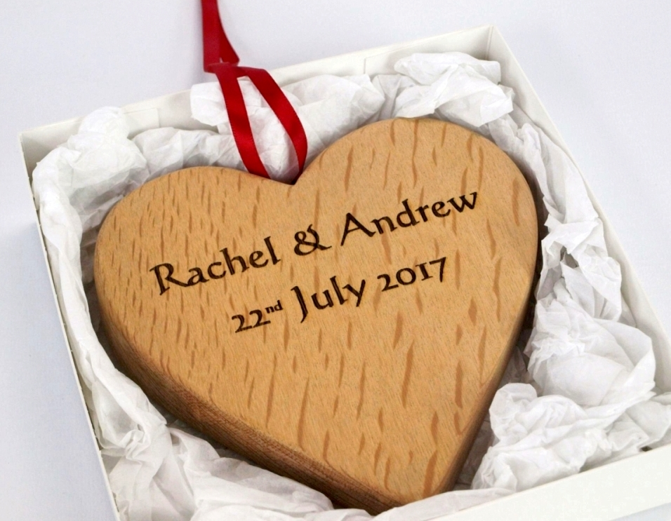 Large Personalised Hanging Hearts