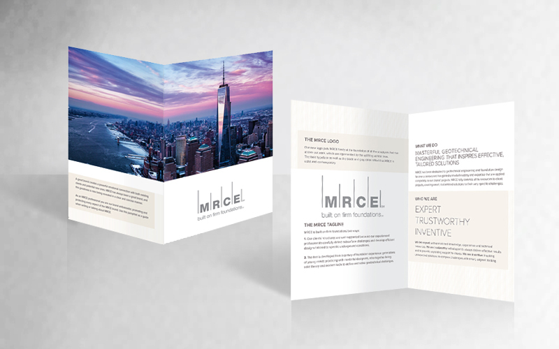 Bringing clear design to a complex industry makes the brand experience stronger as with these marketing materials for MRCE.