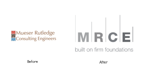 MRCE's new logo (right) and tagline speak to its work and heritage.