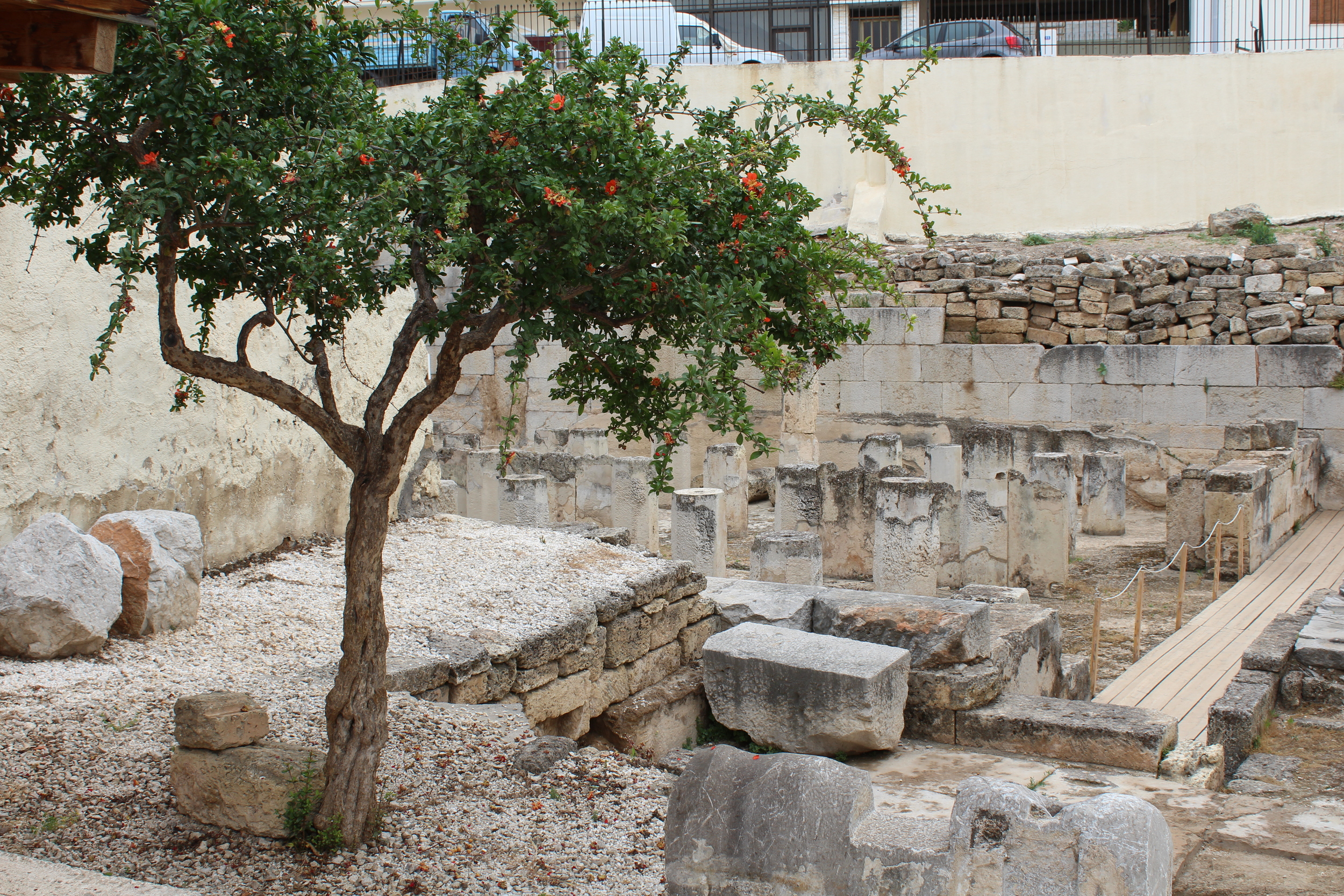 The 'Fountain House of Theagenes' in Megara, the largest of its kind in Archaic greece.