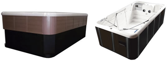 Tidal Fit Premium Swim Spas can be installed completely above ground or semi-inground.