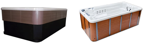 Tidal Fit Pro Swim Spas & Exercise Pools can be installed semi - inground or aboveground.