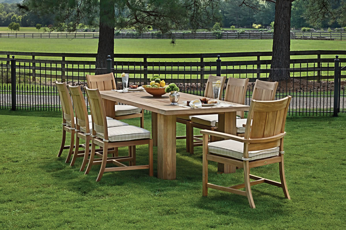 CROQUET Teak Dining Collection by Summer Classics Outdoor Furniture