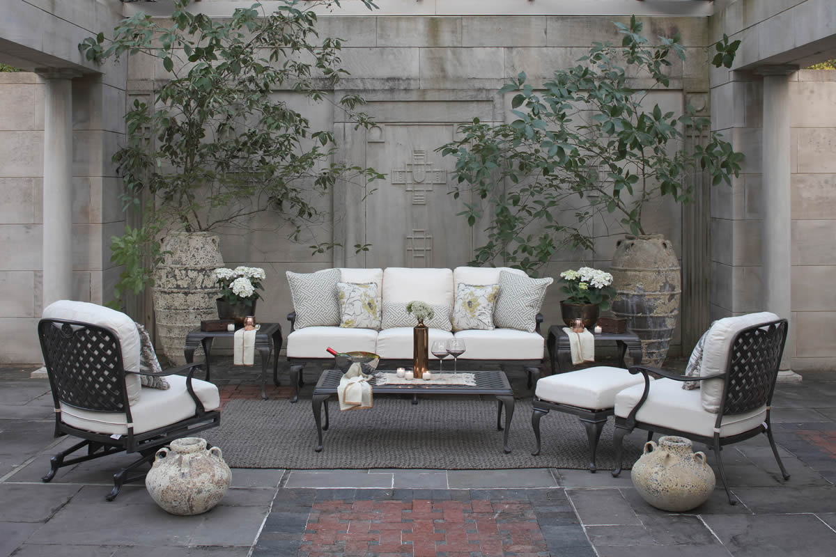 PROVENCE Cast Aluminum Metal Lounge Collection by Summer Classics Outdoor Furniture