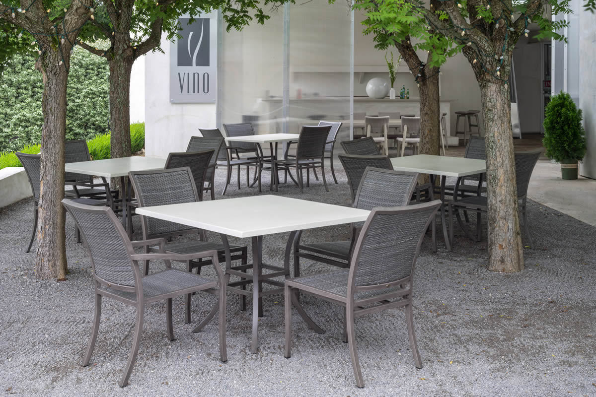 VILLA Wicker/Aluminum Dining Collection by Summer Classics Outdoor Furniture