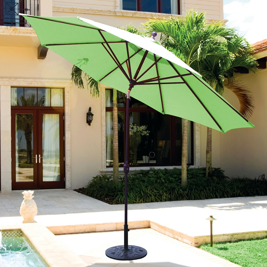 11 foot Round Premium Outdoor Patio Umbrella featuring Sunbrella Fabric