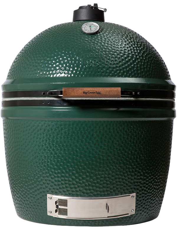 EXTRA EXTRA LARGE (XXL)Big Green Egg Smoker Grill - Specs:Grid Diameter: 29 inCooking Area: 672 sq in / 4336 sq cmWeight: 375 lbsThe XXLarge Big Green Egg can cook: 35-40 burgers, 14-16 whole chickens, 18-20 steaks, 20 mouth-watering racks of rib vertically, or 1 perfectly crisp suckling pig