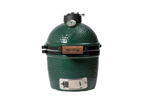 MINIBig Green Egg Smoker Grill - Specs:Grid Diameter: 10 inCooking Area: 79 sq inWeight: 39 lbsThe Mini EGG can cook: 2 chicken breasts, 2 pork chops, or 1 steak