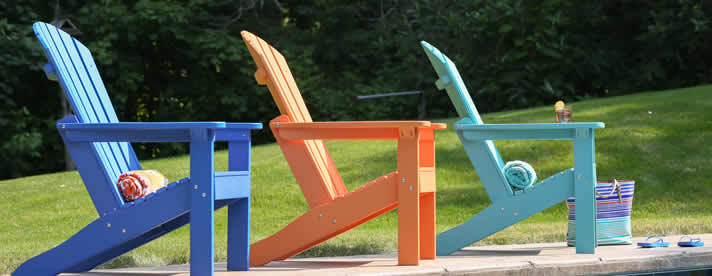 ADIRONDACK Poly Chairs by Berlin Gardens Outdoor Furniture [Subject to availability. Pieces, frame finishes, and fabrics may vary from photo.]  CLEARANCE SALE! NOW 20% OFF!