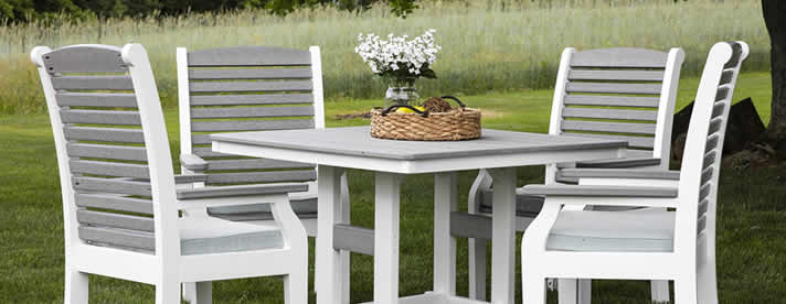 CLASSIC TERRACE Outdoor Poly Dining Collection by Berlin Gardens Outdoor Furniture [Subject to availability. Pieces, frame finishes, and fabrics may vary from photo.]  CLEARANCE SALE! NOW 20% OFF!