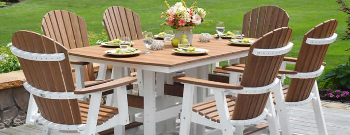 COMFO-BACK Poly Adirondack Furniture by Berlin Gardens Outdoor Furniture [Subject to availability. Pieces, frame finishes, and fabrics may vary from photo.]  CLEARANCE SALE! NOW 20% OFF!