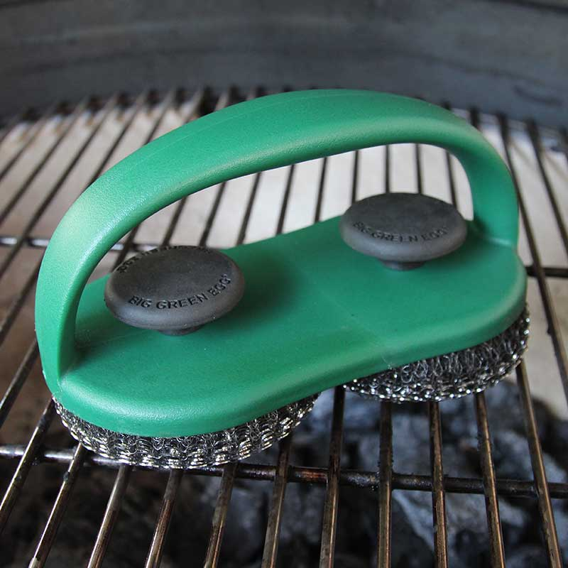 Grid Cleaner - Stainless Steel Dual Scrubber - Big Green Egg