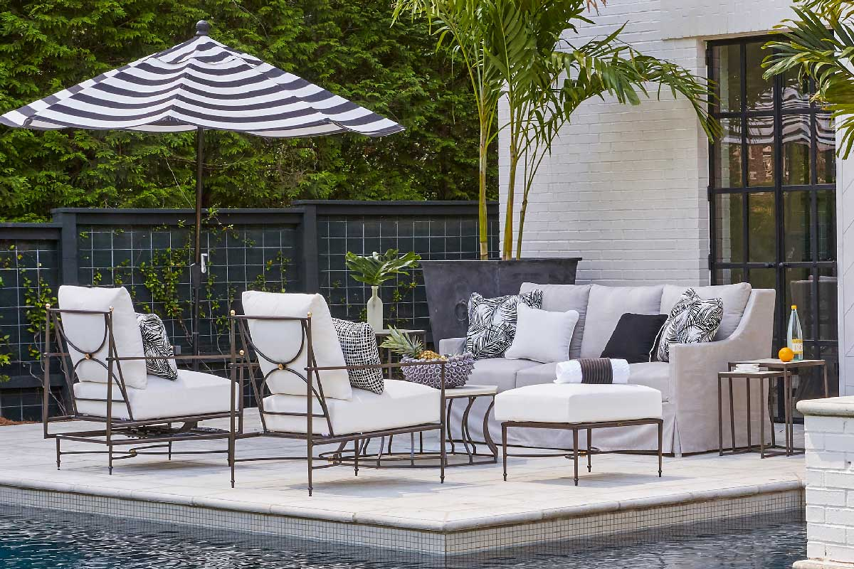 ROMA Aluminum Lounge & Dining Collection by Summer Classics Outdoor Furniture