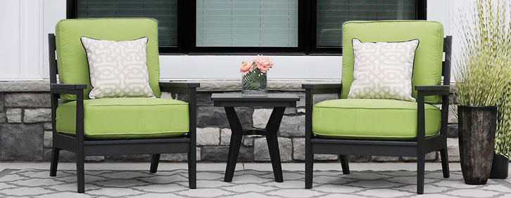MAYHEW CUSHION Outdoor Poly Seating Collection by Berlin Gardens Outdoor Furniture [Subject to availability. Pieces, frame finishes, and fabrics may vary from photo.]