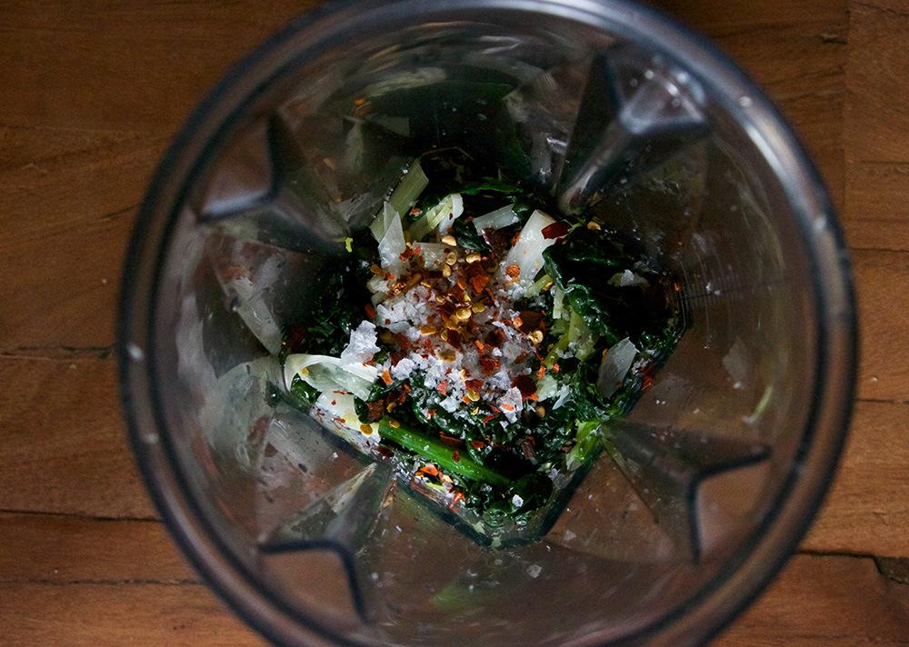 Spring Green Garlic Kale Pesto