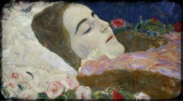 Ria Monk on her Deathbed by Gustav Klimt